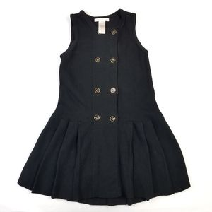 Janie and Jack Knit Dress Black SZ 5T Sleeveless